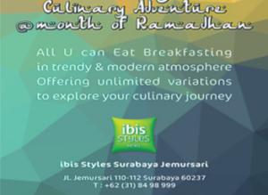 Paket Buka Puasa Hotel Ibis Styles Jemursari Surabaya