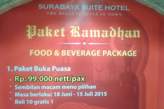 Paket Buka Puasa Hotel Surabaya Suite Hotel